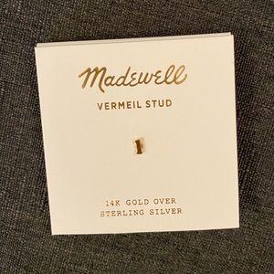 "Madewell Vermeil Letter  ""L"" Single Stud Earring"